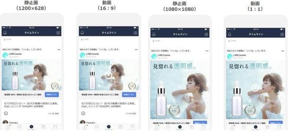 Line ads 配信画面