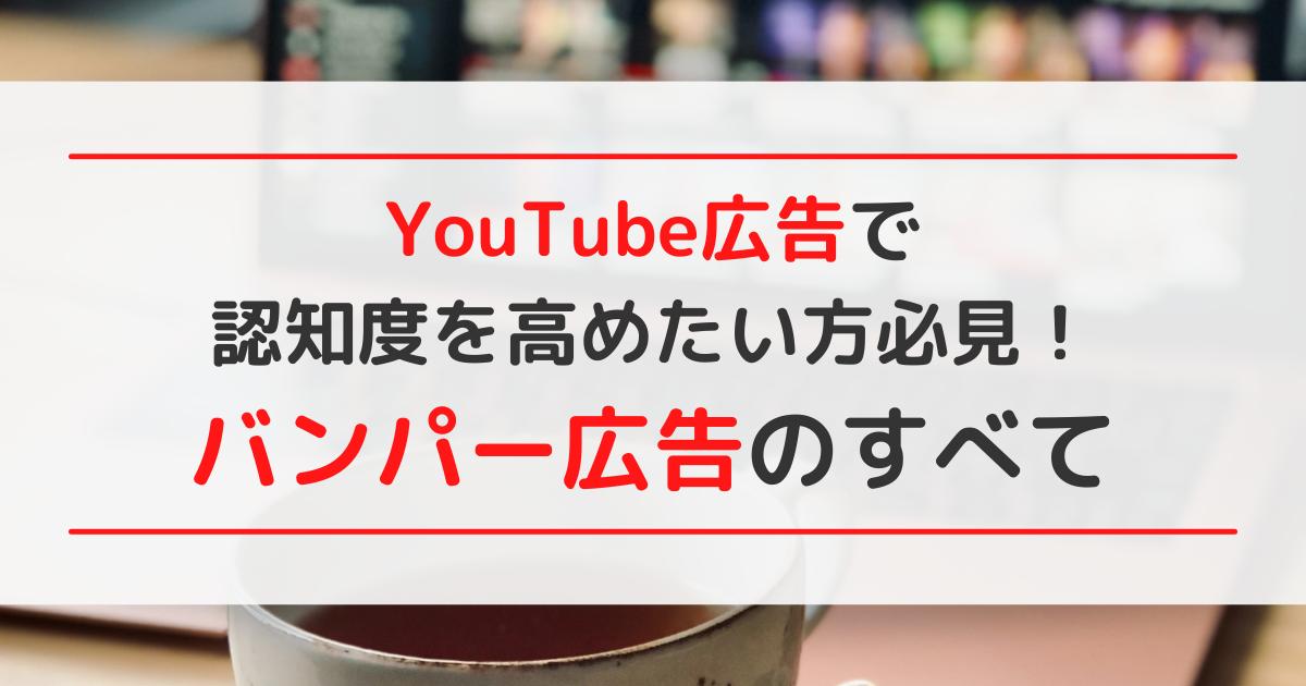 YouTube広告で認知度を高めたい方必見!バンパー広告のすべて