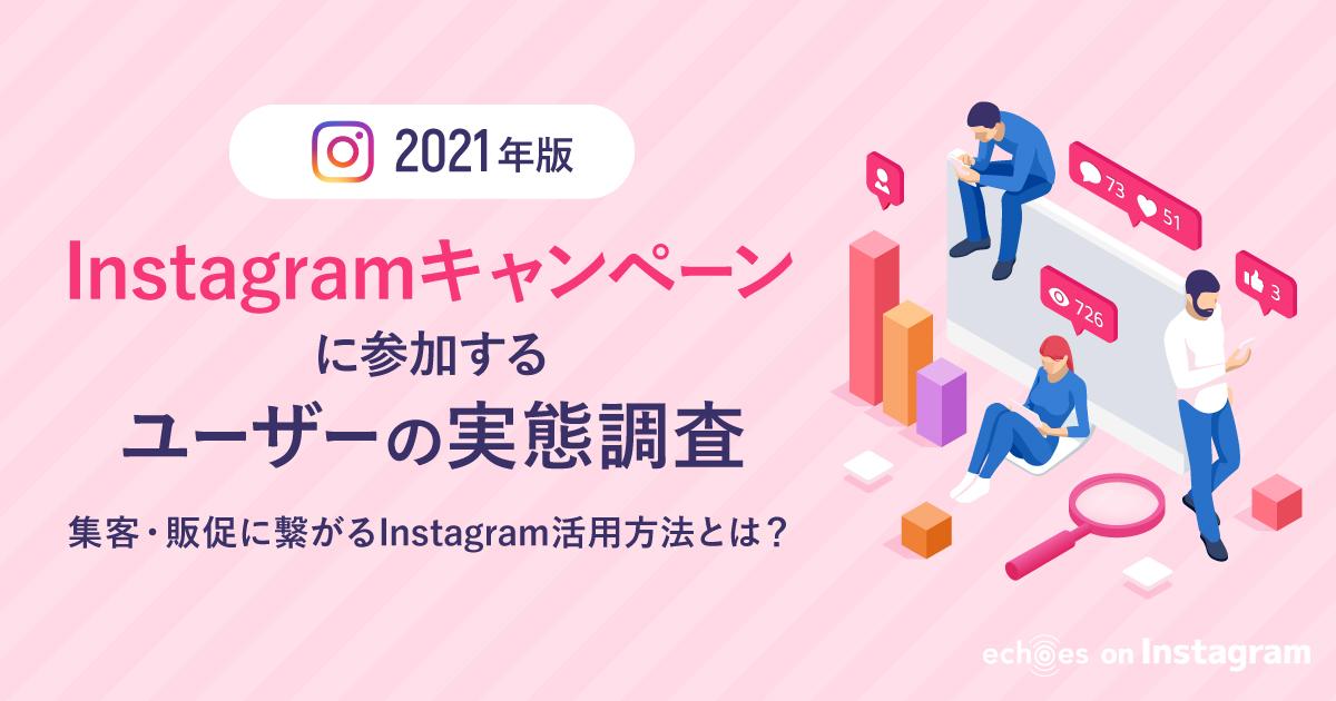 「Instagramキャンペーンに参加する」ユーザーの実態調査 2021~【集客・販促】に繋がるInstagram活用方法とは?~