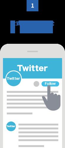 step1 公式アカウントをフォロー Twitter画像
