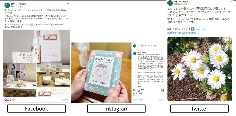 鈴木ハーブ研究所 SNS投稿